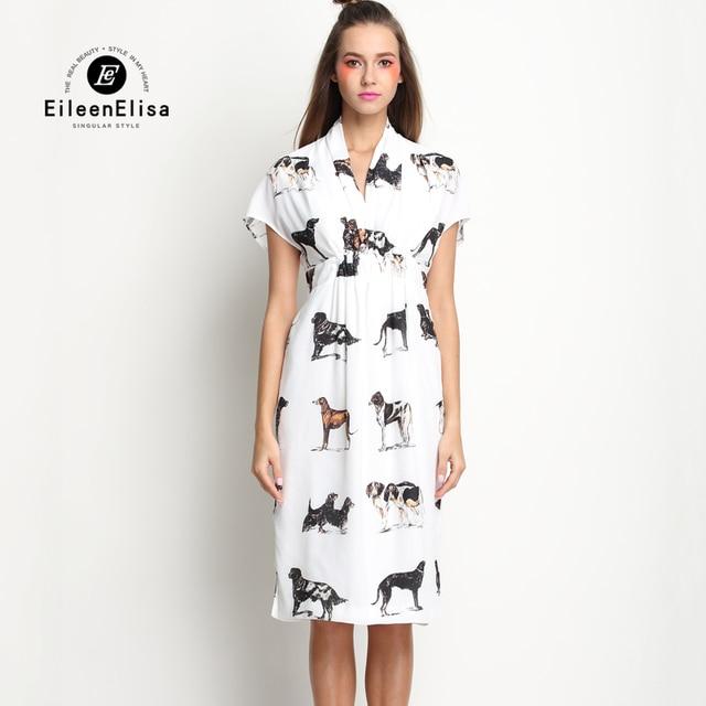 be4cc2ce6f Vestidos de lujo 2017 verano pasarela 2017 mujeres alta cintura Midi vestido  estampado Animal