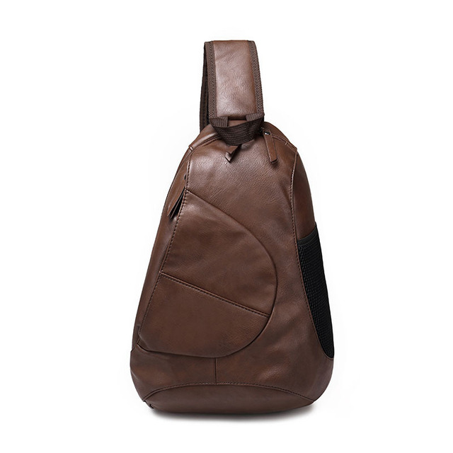 2016 Black and brown men's spring tide Korean fashion cross body chest pack vain man's bag