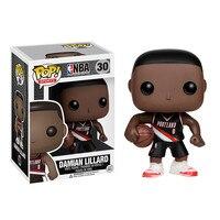Official Funko Pop NBA Super Star Basketball Player Damian Lillard Vinyl Action Figure Collectible Model Toy