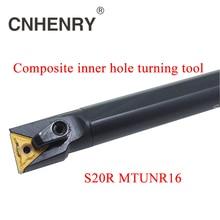 Free Shipping CNC Lathe Machine Tools Lathe Inserts Holder S20R MTUNR 16 Tool Boring Bar For CNC Machine