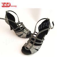 Women Latin   Dance     Shoes   Black Dancing Salas   Shoes   Balloom   Dance     Shoes   For Ladies ChaCha Tango Soft Outsole Middle Heel IDancing