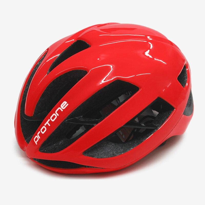 Casco de bicicleta Protone rojo ultraligero aero capaciete road mtb montaña XC Trail bike ciclismo casco 52-58 cm casco