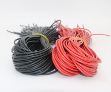 Register shipping ! 10meter/lot High Quality wire silicone 10 12 14 16 18 20 22 24 26 AWG red and black for rc motor ESC battery