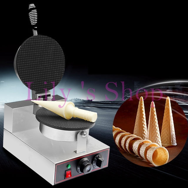 Electric ice cream cone maker Palacinka baker cone baking machine crepe making machine crispy egg roll 1kw 110V 220V EU US plug square pan rolled fried ice cream making machine snack machinery