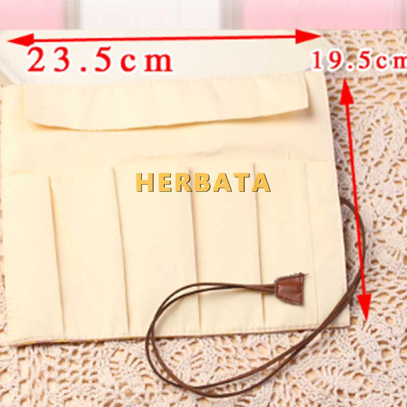 Милый животный Стиль Пенал школьный холст рулон сумка макияж Косметическая кисть хранение ручек коробка канцелярские принадлежности CL-1926