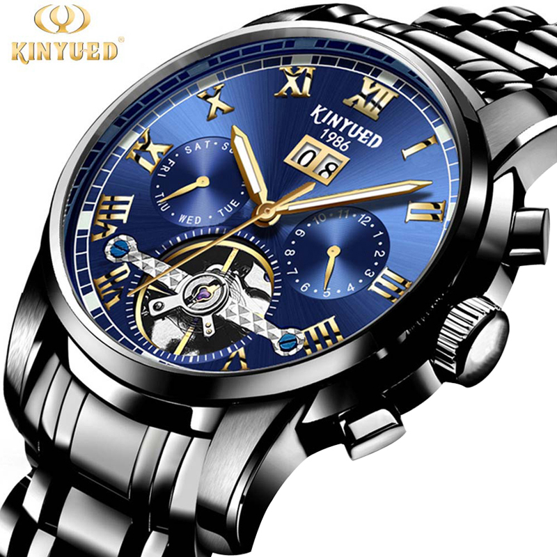 Automatic Mechanical Watch Men's Full Steel Military Waterproof Sports Watches