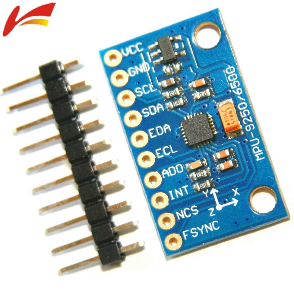 1Set SPI IIC/I2C GY-9250 MPU 9250 MPU-9250 9-Axis Attitude  +Gyro+Accelerator+Magnetometer Sensor Board Module MPU9250 3-5V Power