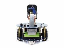 Raspberry Pi AlphaBot2-Pi Acce Paquete de kit de construcción de robots para Raspberry Pi 3 Modelo B (no Pi) + Cámara RPi (B) + mando a distancia IR