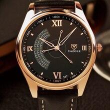 2017 yazole 337 nuevo reloj tres segundos aguja masculina de lujo marcas de gama alta de moda elite de negocios de cuarzo relojes de los hombres