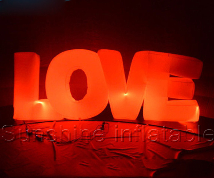 led party decoration giant inflatable letter inflatable love letters for weddingchina mainland