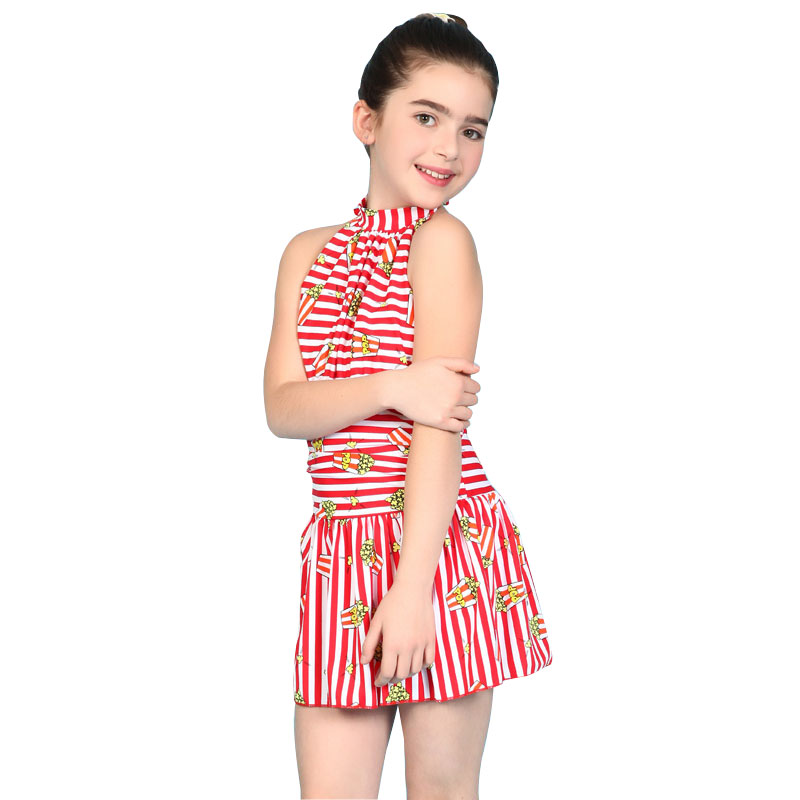 One piece high neck swimsuit kids summer 2016 new Children ...