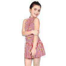 a860a5ea84720 One piece high neck swimsuit kids summer 2016 new Children s swimwear girls  swimwear children bathing suit
