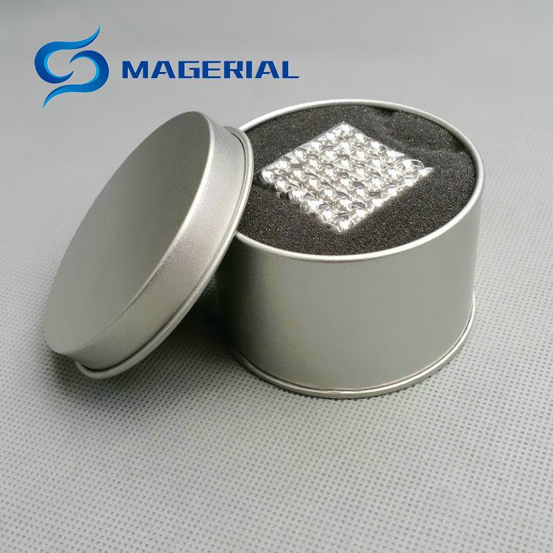 1 Set/216pcs NdFeB Magnet Balls Dia. 5 mm Multiple Colors with Steel Box Strong Neodymium Sphere Permanent Rare Earth Magnets 8mm neodymium magnet sphere steel balls diy puzzle set silver 20 pcs