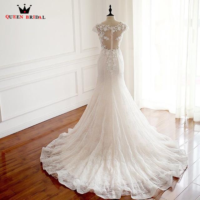 Custom Made Sexy Mermaid Wedding Dresses Flowers Appliques Lace Long Bride Wedding Gown 2018 New Fashion Vestidos De Novia  WD17