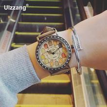 Reloj de la Marca de la vendimia Mujeres de Los Hombres Reloj de Pulsera de Cuero Casual Mujer Hombre Regalo Señoras Reloj de Cuarzo Reloj Relogio Feminino