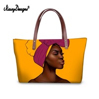 Noisydesigns Art Afro Lady Print Shopping Woman Top handle Bags Big Travel Tote Bolsos De Mujer Shopper Shoulder Dachshund Large