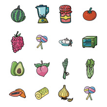 5pcs Fruit Series Acrylic Brooch Badges Decoration Pin On Backpack Women DIY Clothes Brooches kids Pins Support Customization