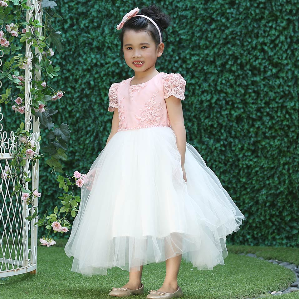 Image 5 - Pettigirl Girls Flower Feast Party Dress Big Bow Beading Pink  Princess Dress With Hairhand Kids Boutique Wedding Clothes 1082princess  dresspink princess dresspink princess