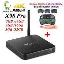[Подлинная] X98 PRO Metal Box 3 Г/32 Г 3 Г/16 Г 2 Г/16 Г Android 6.0 Smart TV Box Amlogic S912 Octa Core CPU KD16.1 Полностью Загружен 5 Г W