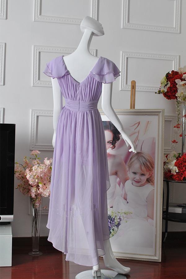 High Low Lilac Dress (3)