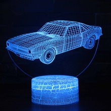 Old Fashion Retro Car 3D Visual Table Lamp 7 Colors Change Night Light LED USB Desk Lamp Atmosphere Night Home Decoration Lamp цена в Москве и Питере