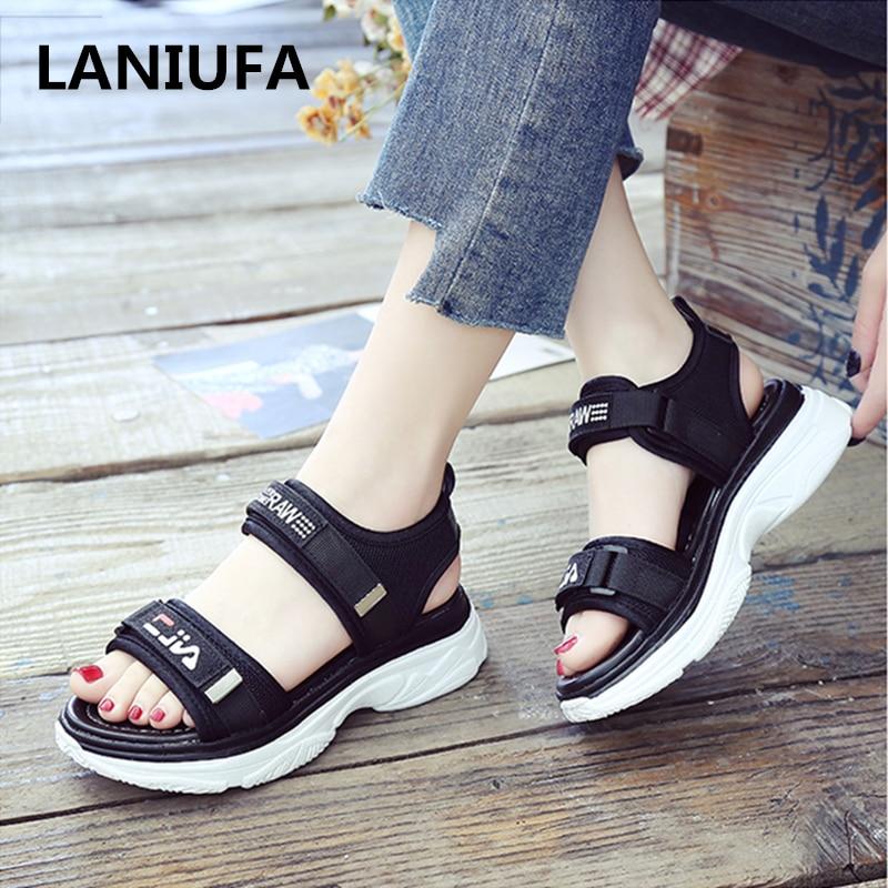 Fashion Women Sandals Women Summer Platform Sandal Shoes Women Mesh Breathable Comfort Shopping Ladies Walking Shoes Mujer #656