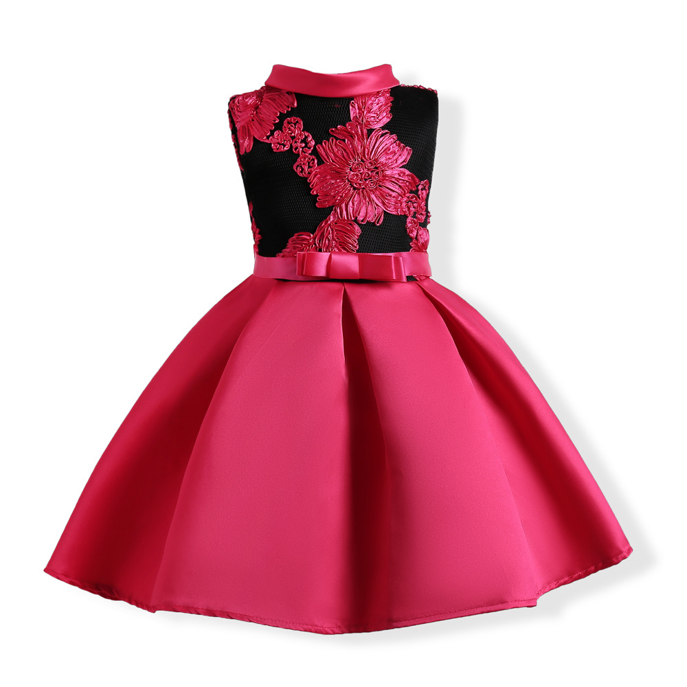 2017 Monsoon Kids Red Dresses Children Girl Dresses Girls Wedding and Party Dress Girl Embroidered Clothes 2 3 4 5 6 7 8 9 10 baby girls party dress 2017 wedding sleeveless teens girl dresses kids clothes children dress for 5 6 7 8 9 10 11 12 13 14 years