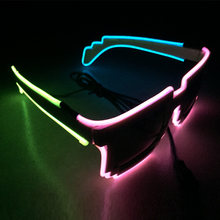 bac7897b6dd3 10pcs lot Shutter Light Up Glow El Wire Glasses EDM EDC Rave Party Bar  Eyeswear Accessory Sunglasses Music-Box for holiday z20