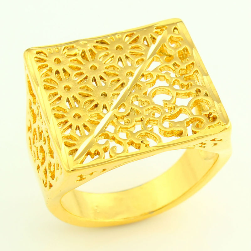 THREE SIZE African Gold Ring for Women 24K Gold Color Eretrian Big