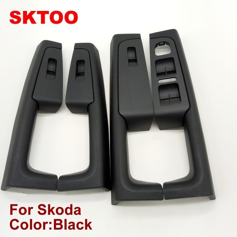 SKTOO (Black)For Skoda Superb Inner door handle door armrest switch box inside the door of the glove package