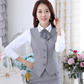 2016 Top Fashion Vest Female Suits The Hotel Reception Work Clothes Bank Winter Majia2015 Autumn Airline Stewardess Uniforms