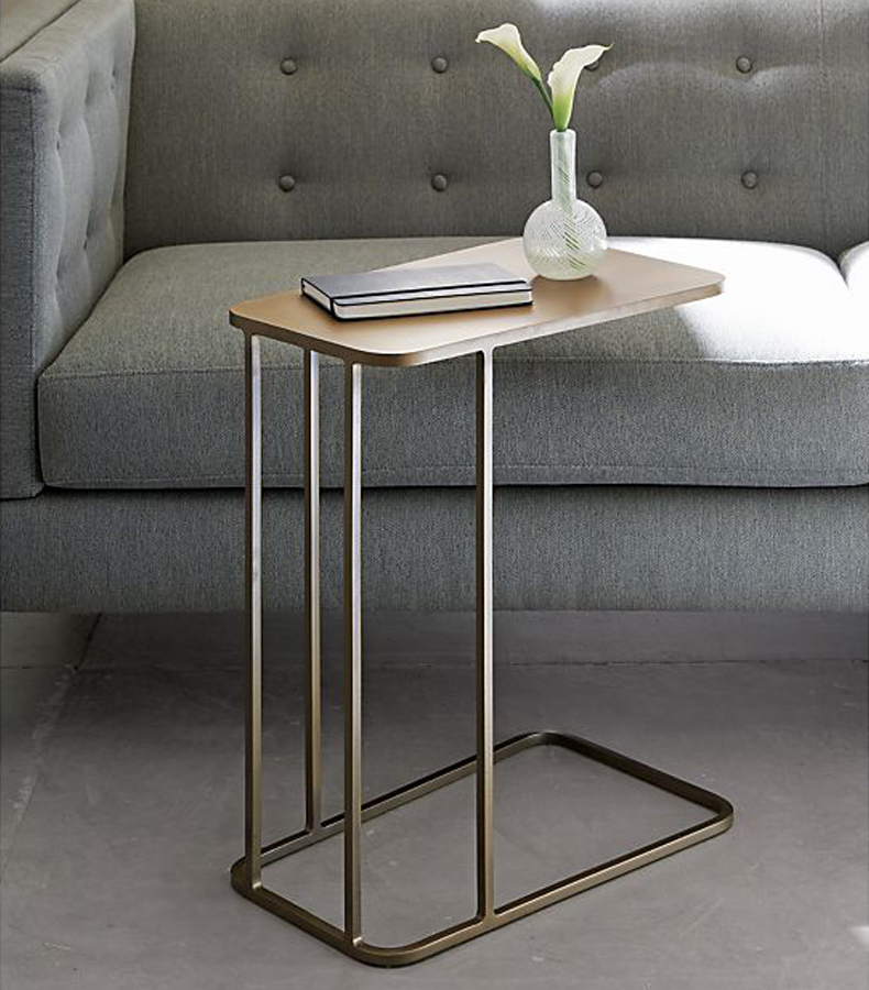 The modern contracted small tea table. The edge of the table of iron edge table ark Nordic small square table..16