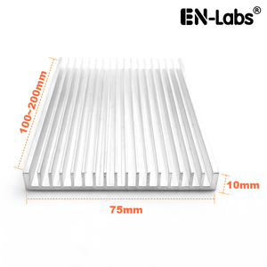 En-Labs 75x10x100/150/200mm Aluminum Heat Sink Radiator Heatsink IC LED Cooling, Electronic Cooler, Chipset heat dissipation(China)