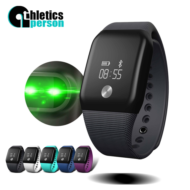 Athletics Person V18 New Smart Bracelet Blood Oxygen and Pressure Wristband Heart Rate Fitness Smart Watch For Andriod Ios Phone