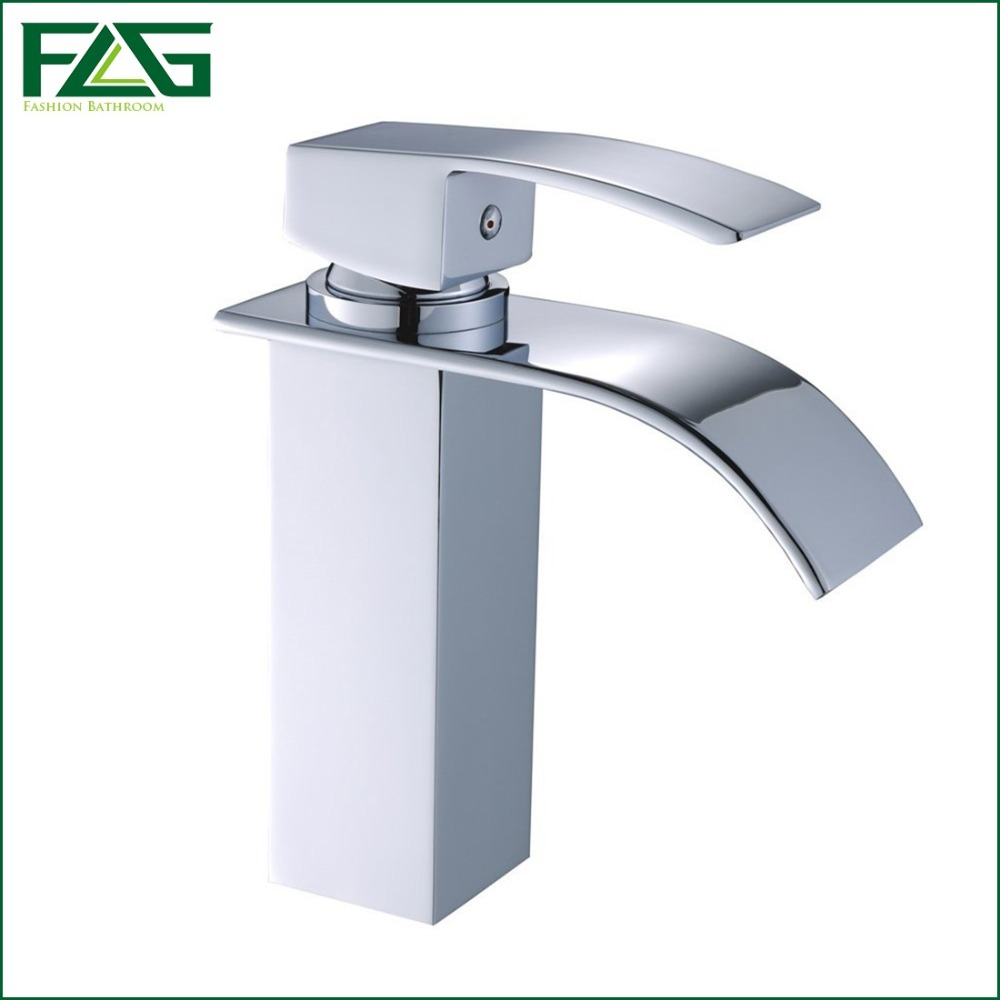 FLG European Nordic Retro Basin Faucet Chrome Cast Waterfall Faucet ...