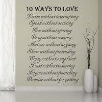 10วิธีที่จะข้อความรักผนังสติ๊ก