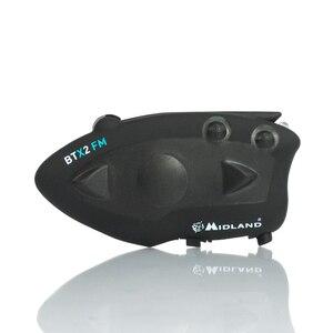 Image 2 - 2 個ミッドランド BTX2 オートバイの Bluetooth ヘルメットヘッドセットインターホン FM バイク BT インターホンハンズフリー通話 800 メートル