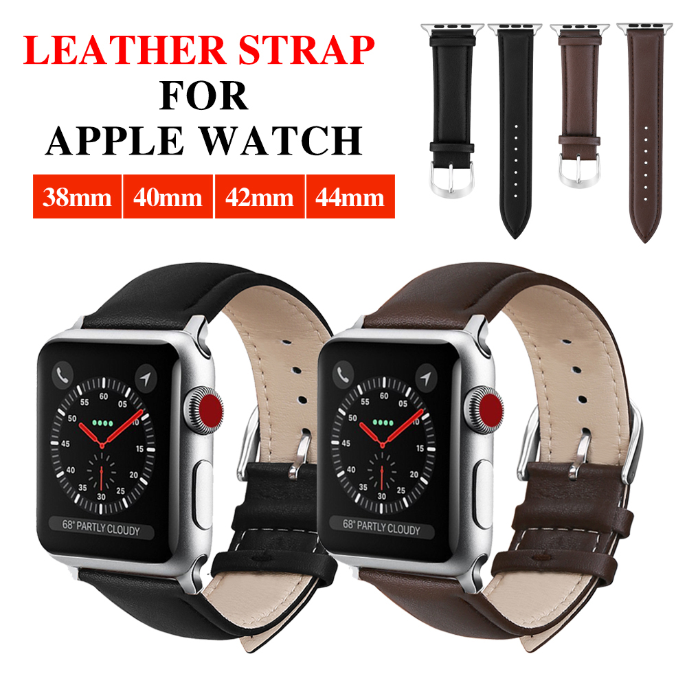 XIYUZHIYI  Hot Sell Leather Watchband for Apple Watch Band Series 4/3/2/1 Sport Bracelet 42 mm 38 mm Strap For iwatch 4 BandXIYUZHIYI  Hot Sell Leather Watchband for Apple Watch Band Series 4/3/2/1 Sport Bracelet 42 mm 38 mm Strap For iwatch 4 Band