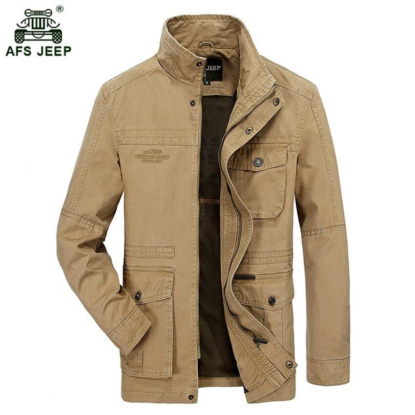 Veste décontracté hommes veste coton lavé manteaux armée militaire col montant vêtements d'extérieur jaqueta masculina manteau parka 130wy