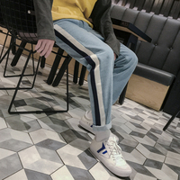 2017 Winter Japanese Style Men S Black Classic Baggy Trousers Brand Famous Jeans Casual High Quality