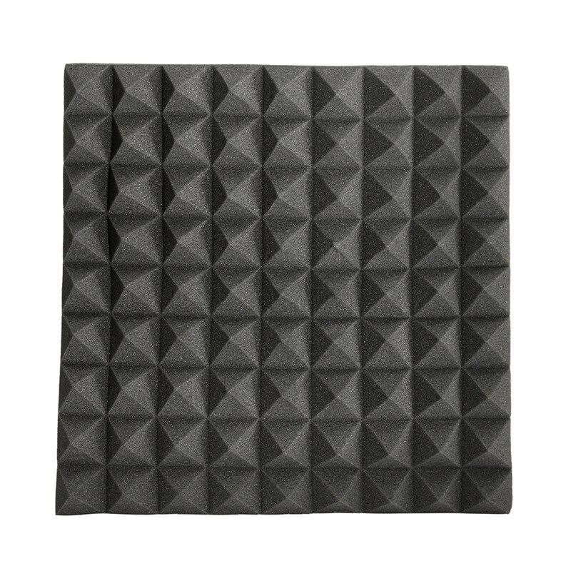 45x45x5cm Soundproofing Foam Acoustic Foam Studio Sound Treatment Absorption Proofing Wedge Tiles Polyurethane Foam 12x soundproofing foam acoustic absording treatment foams home wall car wedge tiles studio foam ktv studio noise sponge foam us