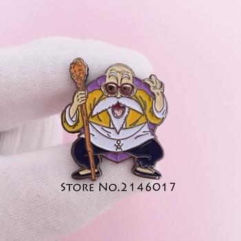 100pcs Son Goku Master Roshi Tie Brooch Dragon Ball Custom Lapel Pin Masonic Freemasons Apron Badge Japanese Anime Backpack Pins