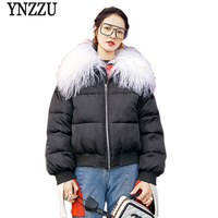 New Design 2018 Women S Winter Jacket Chic Black Thick Warm Cotton Padded Coat With Large