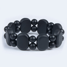 100% Quality Jade Natural Black Bian Stone Bracelet Carve Black Jade Bracelet For Women and  Men Bianshi Bracelet