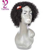 Hot Full Lace Wig With Baby Hair Peruvian Kinky Curly wig Glueless Human Hair Lace Front Wigs Black Women Curly Lace Front Wig
