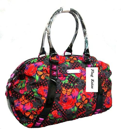 Skeleton garden hobo women designer shopping bags high quality rivet Red Roses big female bag ladys bolsas femininas