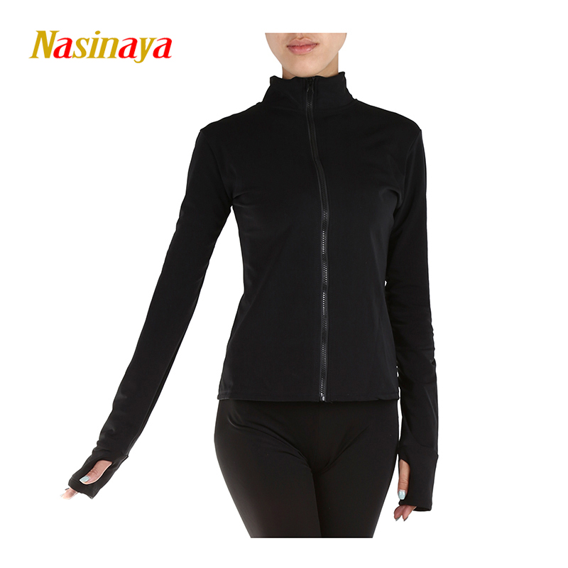 Customized Figure Skating Jacket Zippered Tops for Girl Women Training Competition Patinaje Ice Skating Warm Fleece Gymnastic 20
