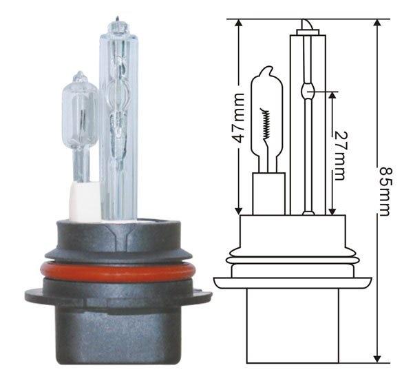 100W AC HID Car Headlight Lamp HID Conversion Xenon Bulb For Car Headlight H1/H3/H7/H8/9004/9005/D2S/9006/9007/H4-2/H7R/H3C