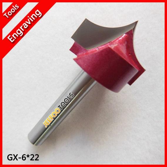 6X22mm- سوزن برش CNC بینی برای چوب ، CNC روتر بیت های Endmill / Woodworking Bit