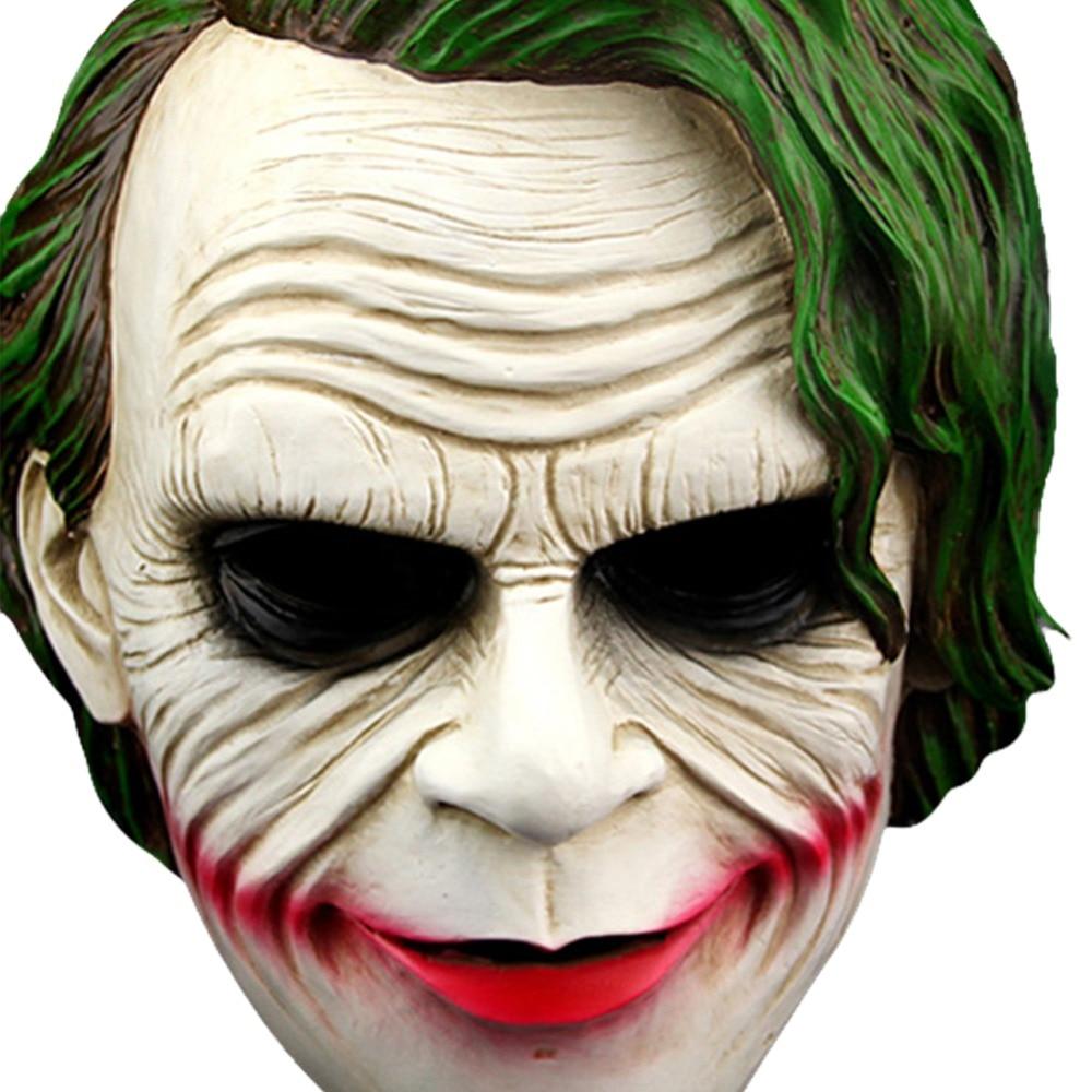 Batman The Joker Cosplay Mask Adjustable Halloween Horror Full Face Masks Resin The Dark Knight Joker Costume Props